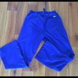 Greys Anatomy Blue scrub pants size S x 31